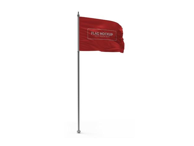 흔들며 깃발 3d 모형 격리 된 디자인 프리미엄 PSD 파일