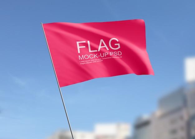 旗を振るモックアップ 無料 Psd