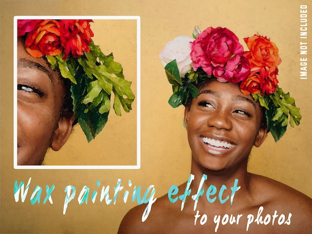 Wax painting effect to your photos Free Psd