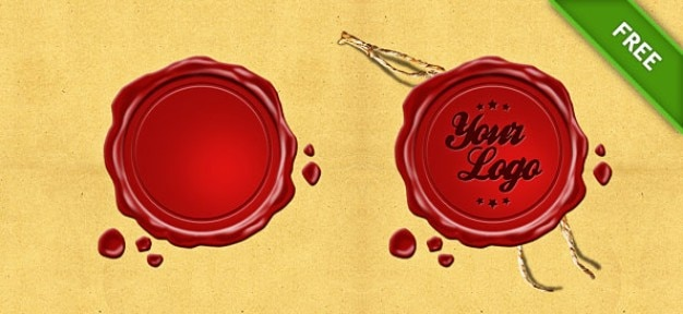 Wax seal stamp psd PSD file | Free Download