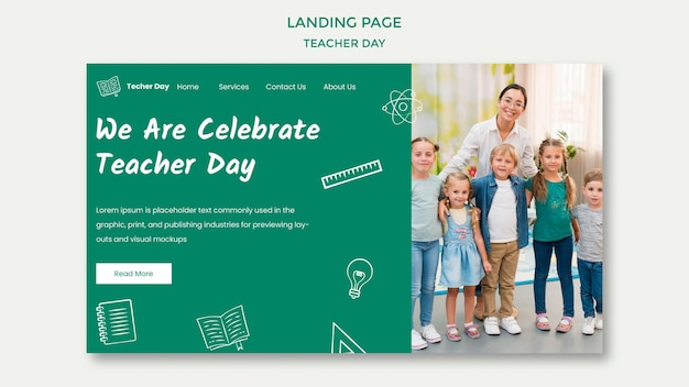 Мы празднуем день учителя. Бесплатные Psd