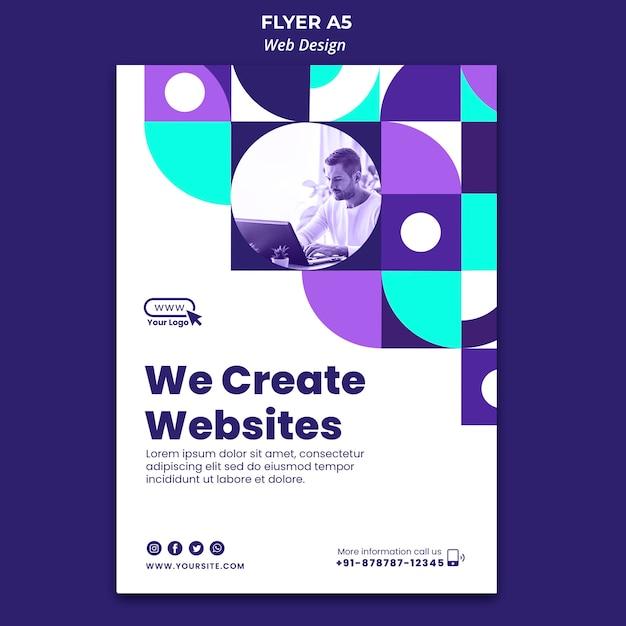 Realizziamo template flyer per siti web Psd Gratuite