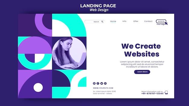 ウェブサイトのランディングページテンプレートを作成します 無料 Psd
