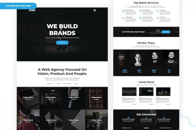 Веб-агентство, ориентированное на дизайн страницы vision Premium Psd