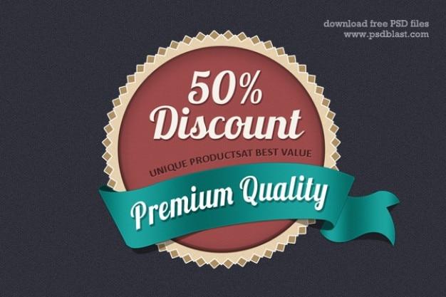 Web badge design  psd Free Psd