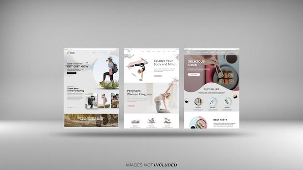 Web browser screens mockup Premium Psd