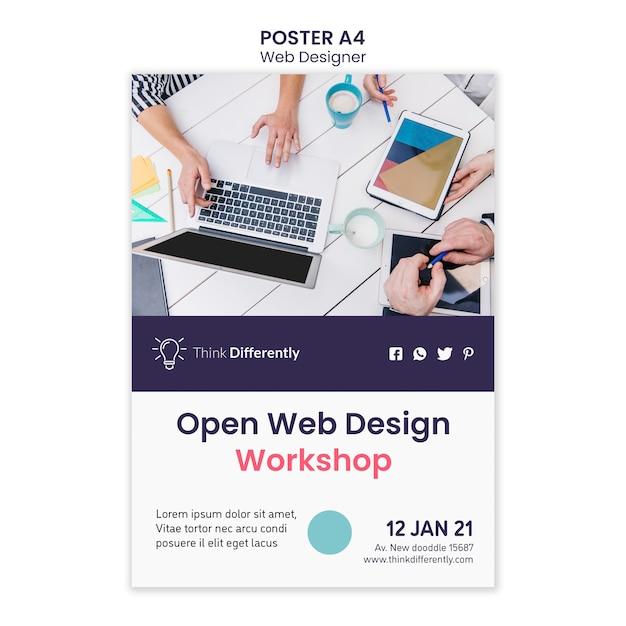 웹 디자인 컨셉 포스터 템플릿 무료 PSD 파일
