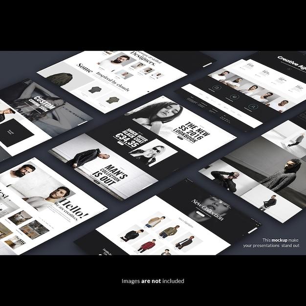 Веб-страницы макета Бесплатные Psd
