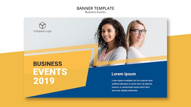 Web template business banner Free Psd