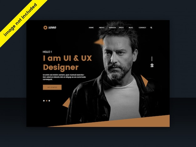 Web template or landing page for web designers Premium Psd