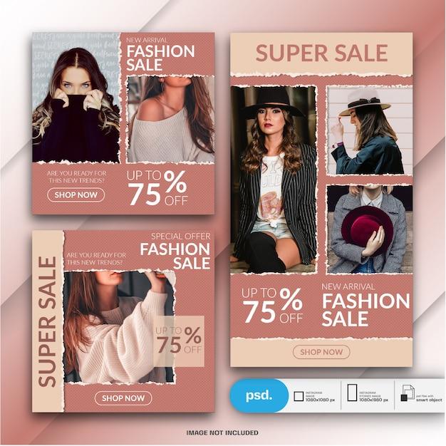 ファッションwebバナーソーシャルメディアテンプレート Premium Psd