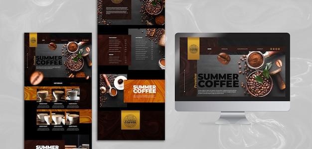 コーヒーショップのwebテンプレート 無料 Psd