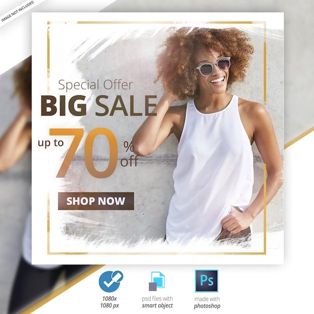 特別セールソーシャルメディアwebバナー Premium Psd