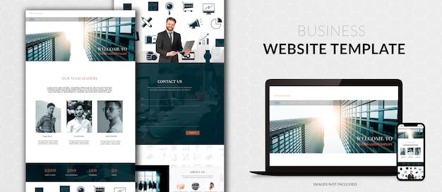 귀하의 비즈니스를위한 웹 사이트 디자인 무료 PSD 파일