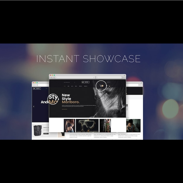 Website design template PSD file | Free Download