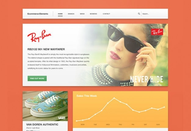 Website ecommerce template psd PSD file | Free Download