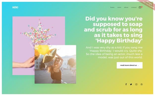 Целевая страница сайта для многоцелевого использования Premium Psd