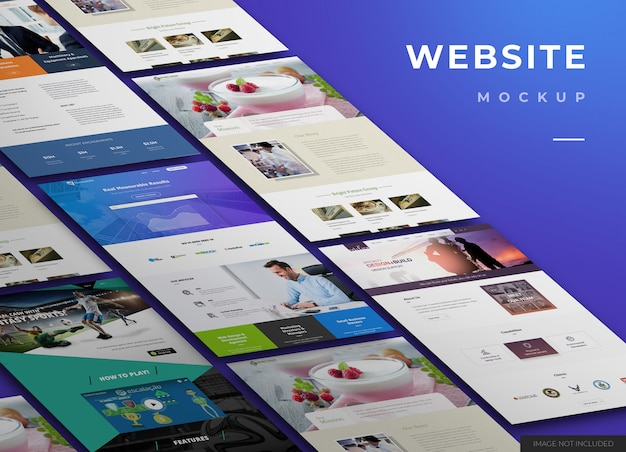 Website mockup design Premium Psd