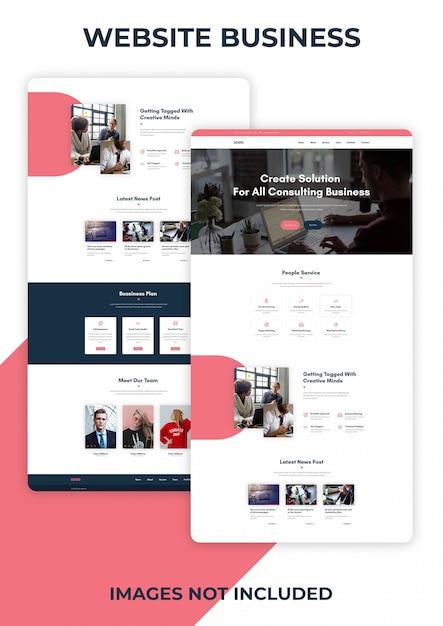 Website template Premium Psd