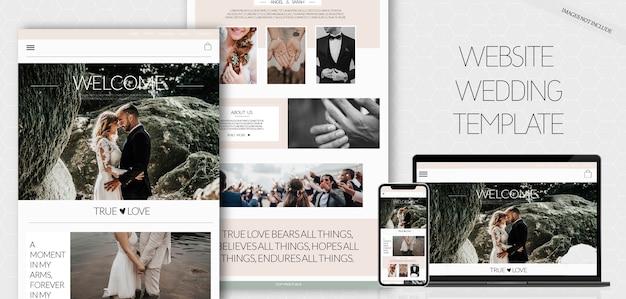Website wedding template Free Psd