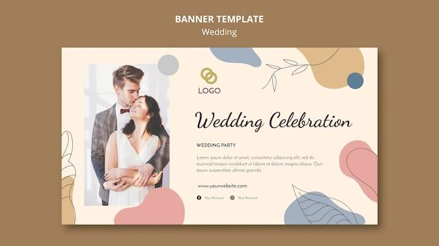 Tema del modello di banner di nozze Psd Gratuite
