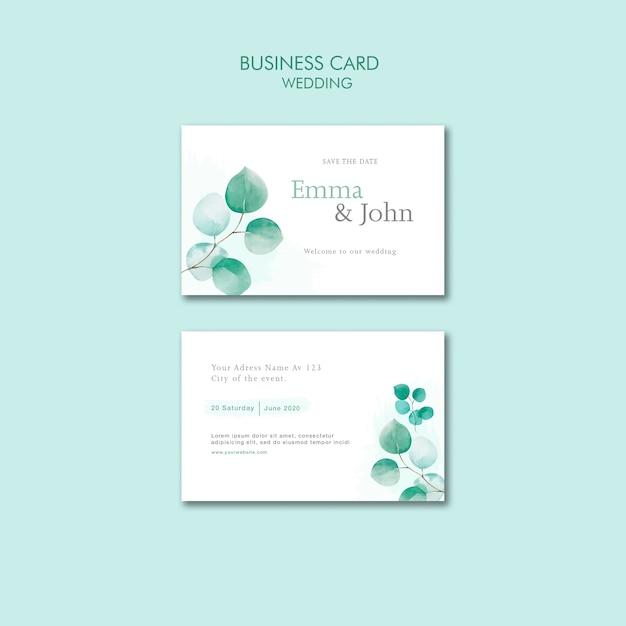 Шаблон свадебной визитки Бесплатные Psd
