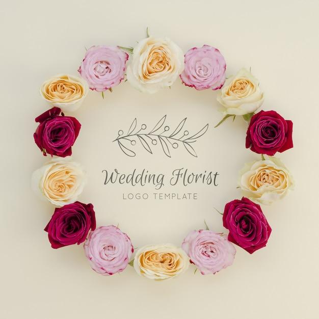 Свадебный флорист с венком из цветов Бесплатные Psd