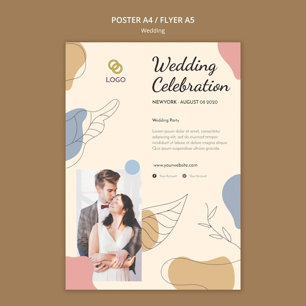 Modello di volantino di nozze Psd Gratuite