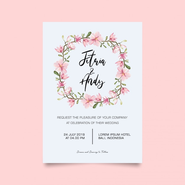 Wedding invitation card Premium Psd