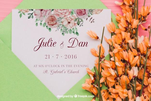Wedding Invitation Concept Psd File Free Download