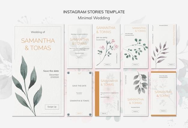 Wedding invitation instagram stories Free Psd