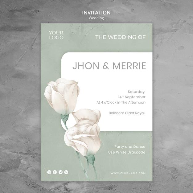 결혼식 초대장 템플릿 무료 PSD 파일