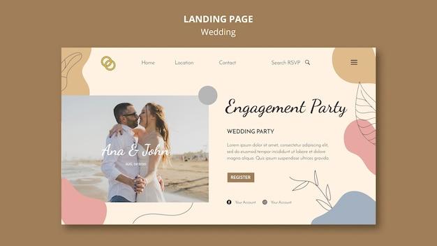 Design della pagina di destinazione del matrimonio Psd Gratuite