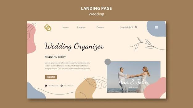Tema della pagina di destinazione del matrimonio Psd Gratuite