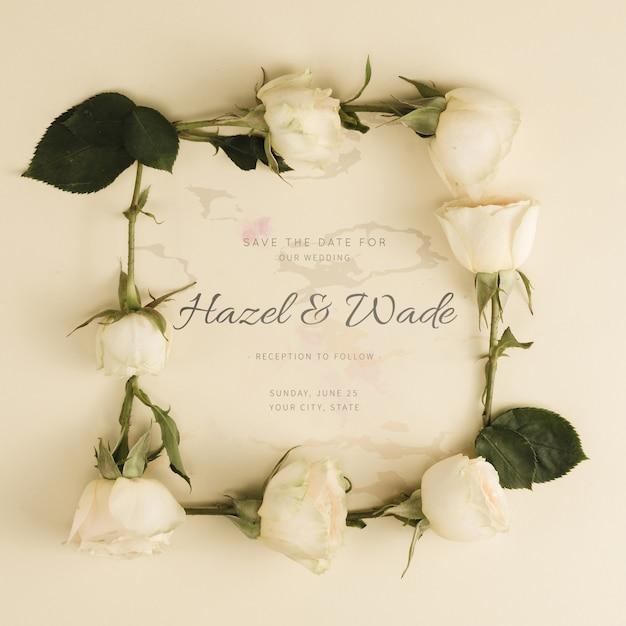 Свадебные бутоны белых роз Бесплатные Psd
