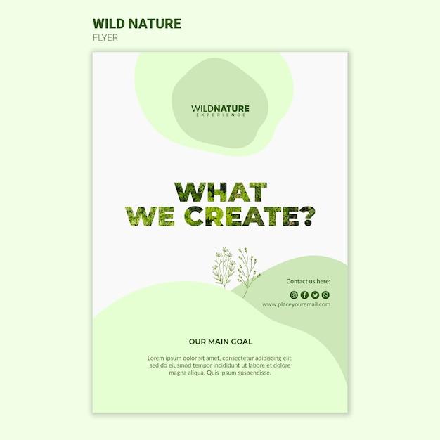 Ciò che creiamo modello di volantino natura selvaggia Psd Gratuite