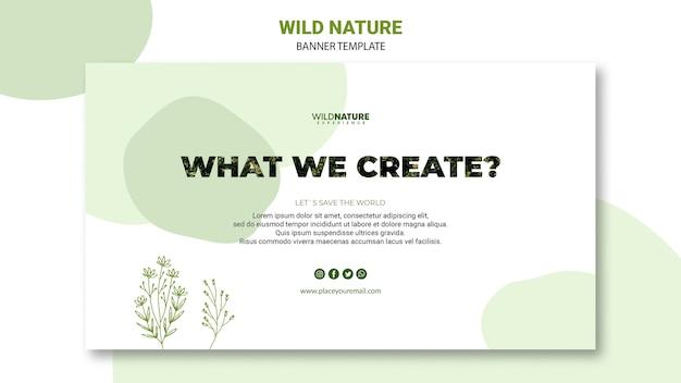 Quello che noi creatura modello banner natura Psd Gratuite