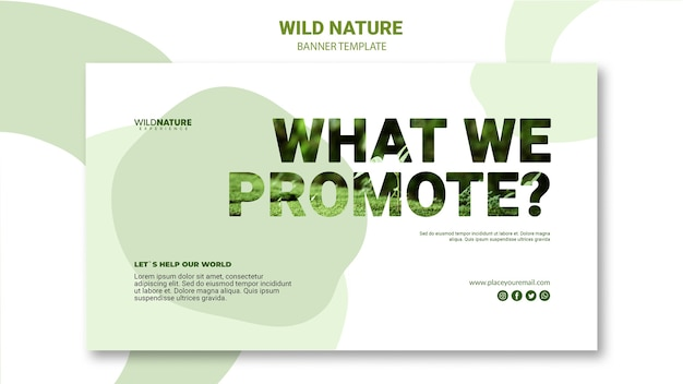 What we promote nature banner template Free Psd