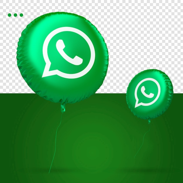 Whatsapp 3d balloon icon social media Premium Psd