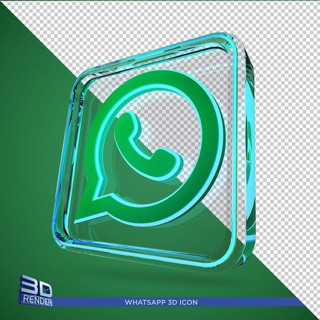 Whatsapp 3d rendering icon isolated Premium Psd