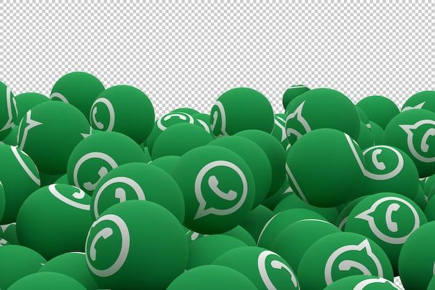 Whatsapp icon emoji 3d render, social media balloon icon Premium Psd