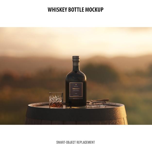 Whiskey bottle mockup Free Psd