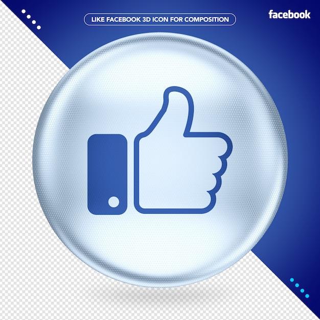 White 3d ellipse as facebook Premium Psd