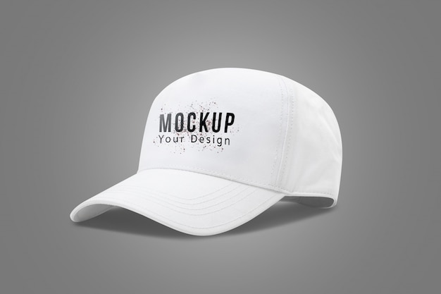 White baseball cap mock up template Premium Psd