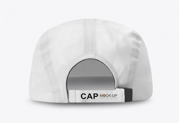 White baseball cap mockup back view Premium Psd