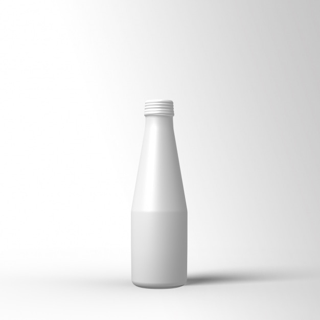 white bottle template design psd file free download