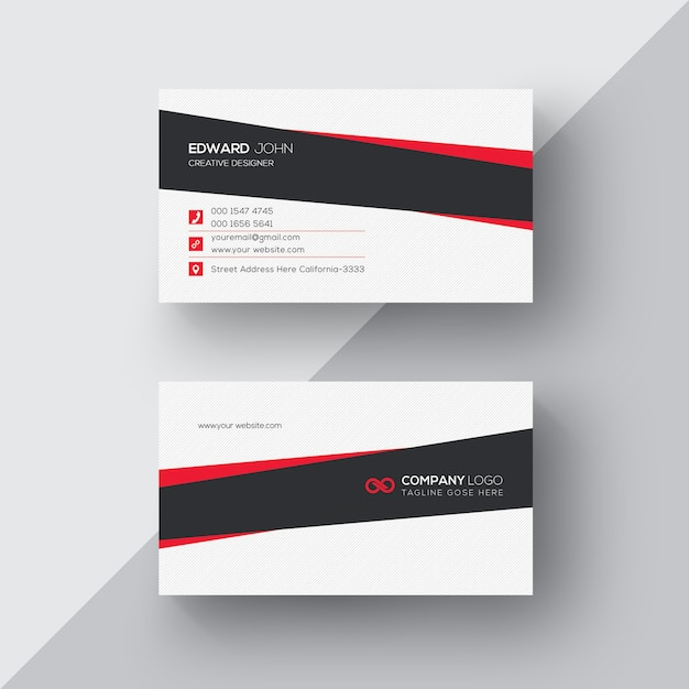 White business card with black and red details psd file free download white business card with black and red details free psd colourmoves
