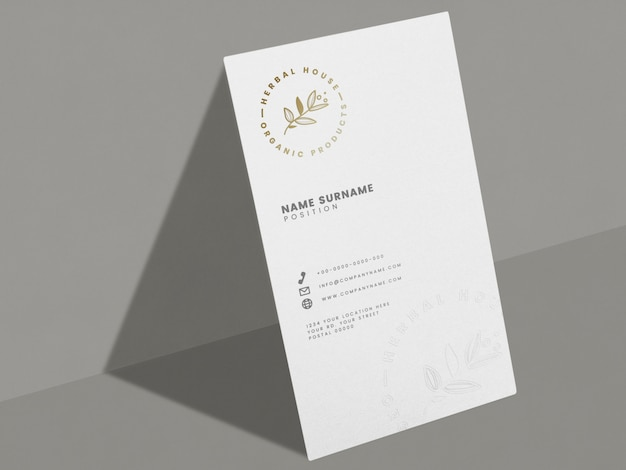 White business card Free Psd