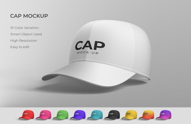 White cap mockup Premium Psd