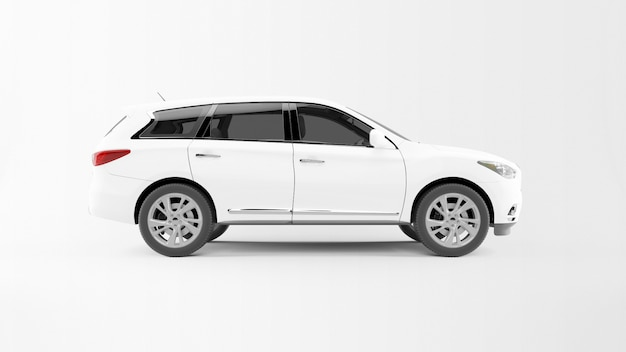 White car isolated Free Psd